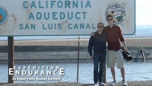 Cameron Craig and Nathan Page at the San Luis Canal (2014)